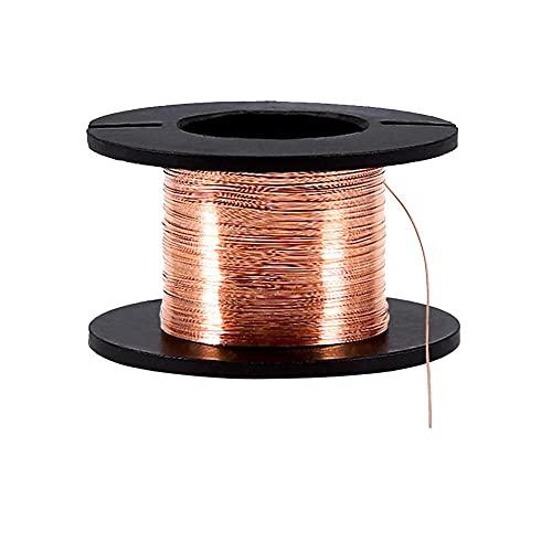 5Pz 0,1mm Filo di Rame Smaltato Filo di Avvolgimento del Magnete Filo Spessore 15m Lunghezza per il Collegamento o Saldatura Scopo, Naturale