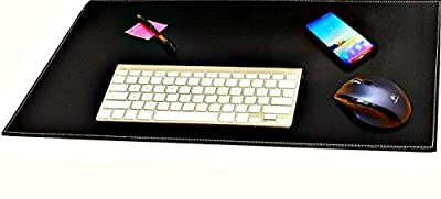 omputer Leather Desk Pad, Stylish Mat Cover, Reversible Color Design Black To White,