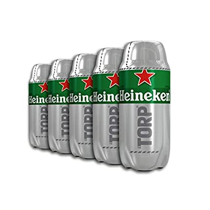 Heineken Cerveza: Caja de 5 Torps Diseñado exclusivamente para THE SUB x 2L