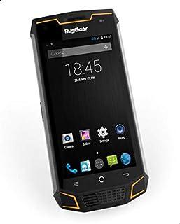 RugGear RG740 Rugged Dual SIM Android Smartphone - 4G LTE, Black/Yellow, 16GB