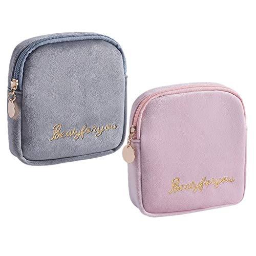 Fanny 2 Stücke Damenbinde Tasche Tampons Sammeln Taschen,Stillkissen, Slipeinlagen, Damenbinden und Makeup Pads (Mehrfarbig A)