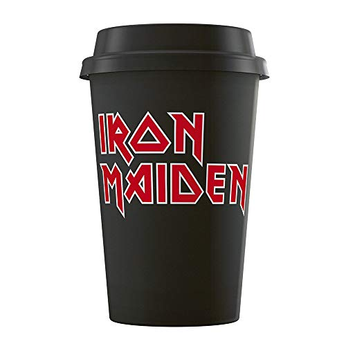 for-collectors-only Iron Maiden Tasse Reisebecher XL Kaffeetasse Reisetasse Logo Becher Trinkbecher Travel Mug Kaffeebecher Reisetasse