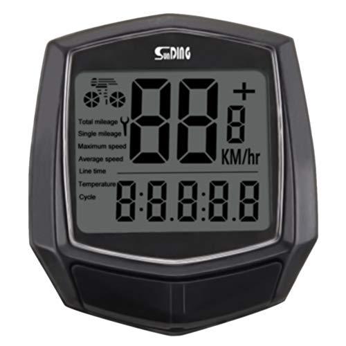 CCAN Sensor cableado Montar en Bicicleta Velocímetro termómetro Digital a Prueba de Agua Accesorios Negro Reloj cronómetro Cycling Computer