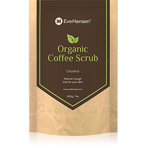 Eve Hansen Bio-Robusta-Kaffee-Körperpeeling mit Kokosöl und Vit. E - Koffein - 7oz