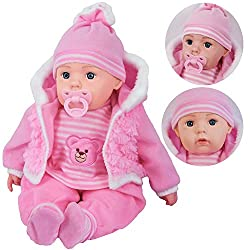 "20"" DOLLS - These are beautiful soft-bodied girls and boys dolls with open eyes, soft trendy clothes. 12 BABY SOUNDS & DUMMY - They make 12 baby sounds and come with a dummy REALISTIC LOOKING - Cute and realistic looking, it is perfect for pretend pl..."