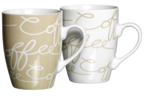 Ritzenhoff & Breker Kaffeebecher-Set Cornello, 2-teilig, Creme, 300 ml