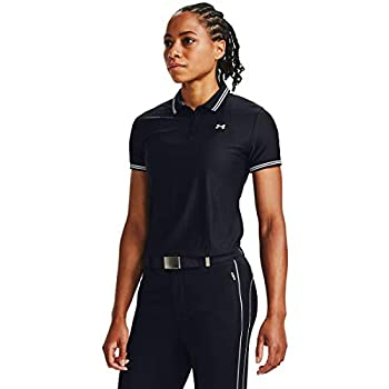 Under Armour Polo Zinger Pique Femme, Black,Halo Gray,Halo Gray (001), FR : M (Taille Fabricant : MD)