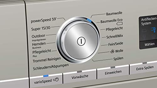 Siemens iQ700 WM14VMS1 – Lavadora de acero inoxidable, 9 kg, A+++ / 152 kWh / 1400 rpm/sistema antimanchas, SpeedPack XL…