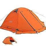 Kazumiya テント 2人用 キャンプテント ツーリングテント PU4000MM アウトドア 4シーズン 登山 山岳 前室 二重層 高通気性 防雨 防風 防寒 紫外線カット (3-4人用)