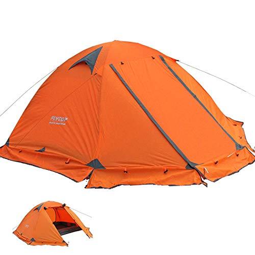 Kazumiya テント 2人用 キャンプテント ツーリングテント PU4000MM アウトドア 4シーズン 登山 山岳 前室 二重層 高通気性 防雨 防風 防寒 紫外線カット (2人用)