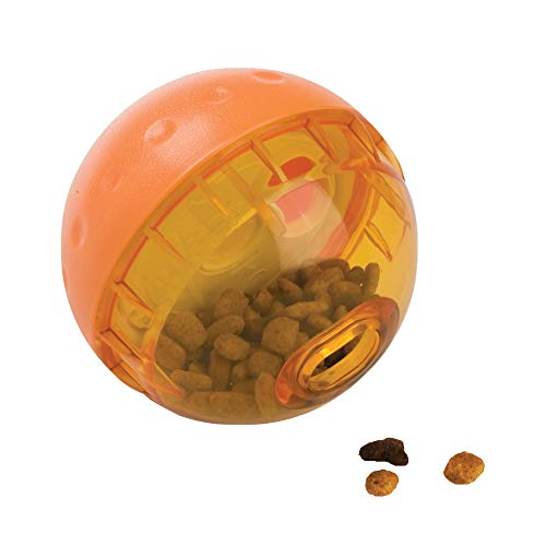 OurPets IQ Treat Ball Interactive Dog Toys (Slow Feeder, Dog Puzzle Toys, Treat Dispensing Dog Toys, Great Alternative to Snuffle Mats for Dogs) Dog Toys for Large Dogs & Small Dogs - Colors May Vary 3'