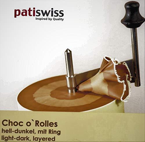 patiswiss Original Choc o` Rolles Schweizer Schokolade NOUGAT DUNKEL, 500g