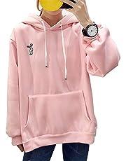Xiaolian Leuke Bunny Hoodie Women Hoody Rabbit Ear Girl lange mouwen hoodie sweatshirt met capuchon