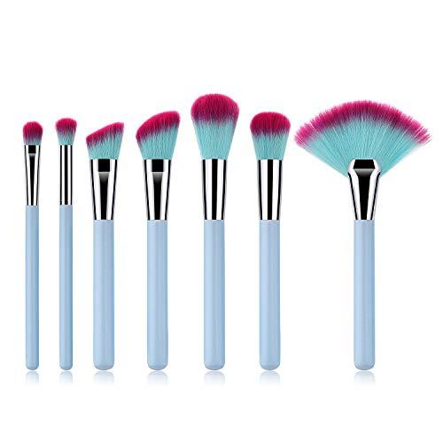 7 Stks Make-up Borstels Make-up Gereedschap Poeder Penseel Oogschaduw Borstel Fan Borstel Lichtblauw Make-up Borstel Set Make-up Borstel Pincel de maquillaje