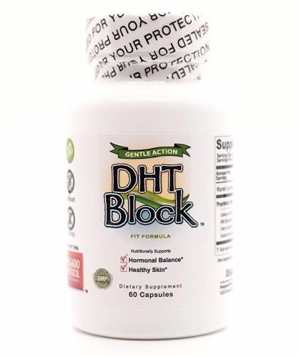 DHT Block - DHT Blocker Supplement for Skin, Acne, PCOS, Hair, and Hormonal Balance. Dim, Astragalus Root, Turmeric, Natural Ingredients. For Men and Women - 60 Vegan Capsules