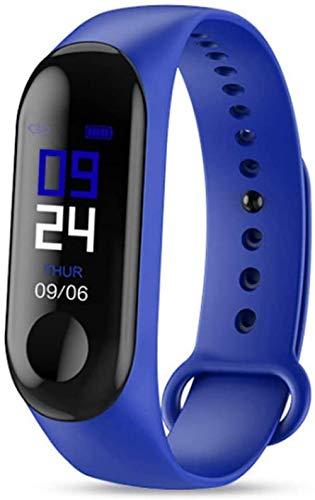 hwbq Pulsera de actividad física con monitor de ritmo cardíaco, monitor de actividad, Bluetooth, pantalla a color, reloj inteligente