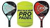 Dunlop Boost Power/Control - Juego de pala de pádel (incluye 3 pelotas)