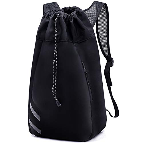 H&L Large Heavy Duty and Durable Drawstring Backpack Gym Bag