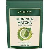 VAHDAM, té verde Matcha Moringa (50 porciones) | 100% PURE Matcha Tea Powder de origen japonés | 137x ANTIOXIDANTES | Té verde para bajar de peso y desintoxicación diaria | SUPER COMIDA de Japón, 100g