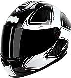 La cara llena de la motocicleta casco ligero accidente de moto modular casco DOT / ECE Aprobado motocross cascos con visera ciclomotor Piloto Cap Racing L = 59 ~ 60 cm (Color: H, Tamaño: L = 59 ~ 60 c