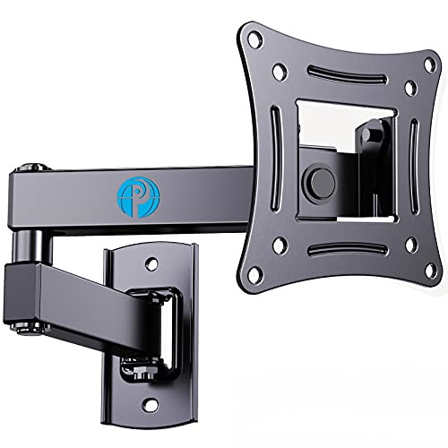 Full Motion TV Wall Mount Brackets Swivel Tilts Articulating Extension for 13-32 Inches LED LCD Flat Curved Screen TVs Monitors, Single Stud for Corner Max VESA 100x100mm by Pipishell