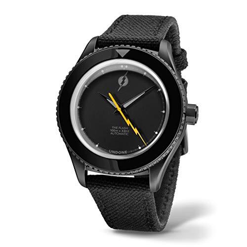 Undone Flash Automático Acero Negro Cordura Unisex Reloj