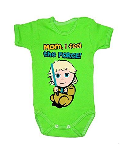 Couleur Mode bébé Luke bodies à manches courtes 100% coton Petit bébé – 24 mois – 0014 Green 0-3 months, 62 cm
