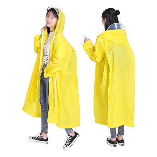 Multifunctionele Sport Regenjas EVA Herbruikbare Riding Trekking Cloak Poncho Met Hood Voor Volwassenen En Kinderen Regenbestendig Weerbestendig (2 Pack),Yellow,L