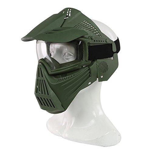 Airsoft-Maske, Maske für das ganze Gesicht, Mesh-Maske, Schutzmaske, Militärschutzmaske, ideal für Paintball / Halloween-Kostüm, von HaoYK, OD Green