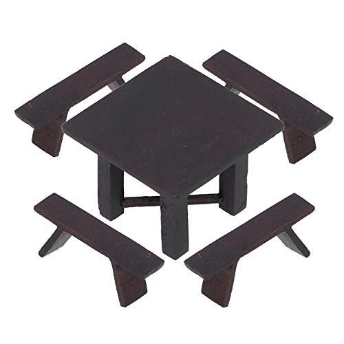 Puppenhaus Küchenmöbel, Mini Tische und Stühle, Simulation Exquisite Elegant zum Spielen Übung logische Fähigkeit Kinder Kinder