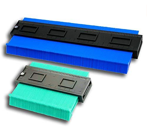 2 Stück Konturenlehre Set, ESUNOM 250mm und 120mm Kunststoff Profillehre Duplikator Werkzeug Laminat