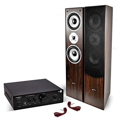 Paar Lautsprecher HiFi/Home Cinema Verstärker 2x500W + Stereo Stereo BT/NFC/CD/AUX / MP3