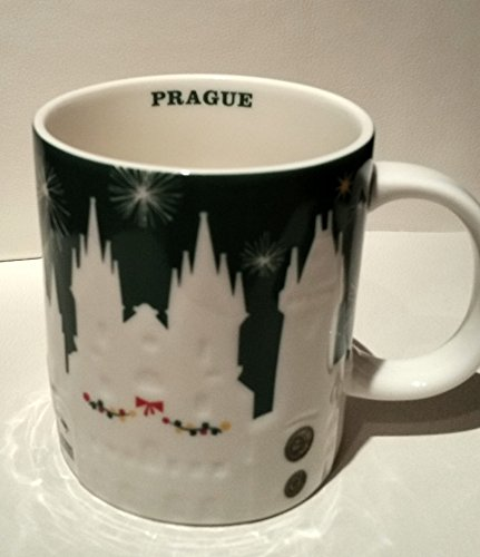 Starbucks Limited Edition Prague Christmas Green Relief 2015
