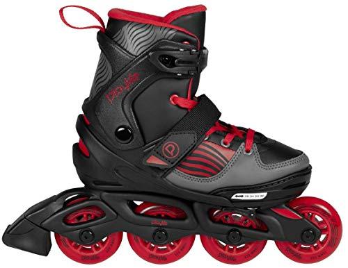 Playlife Inline Skates Dark Breeze Inlineskates, Schwarz, Rot, Grau, 35-38
