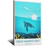 Great Barrier Reef Vintage Reise-Poster – Australien