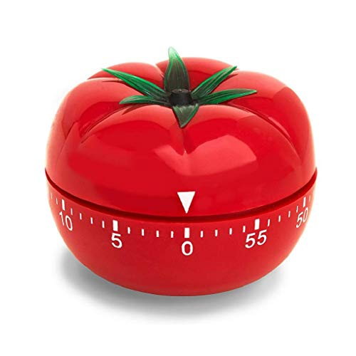 WEEYEE Temporizador de Cocina de 1 a 60 Minutos, Herramienta de cocción de 360 Grados, Temporizador mecánico de Tomate, Temporizador de Cuenta Regresiva de cocción multifunción (1paquete)