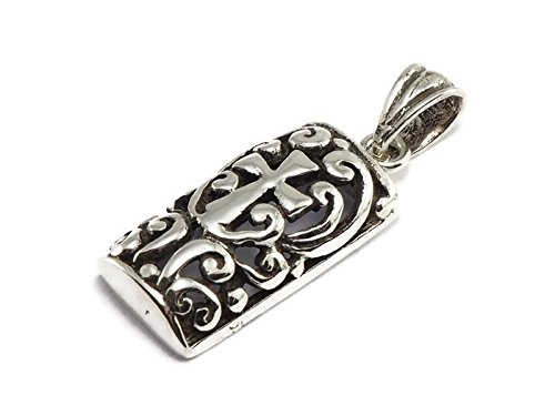 925 Sterling Silver Tiny Pendant Square Celtic Cross 5/16' x 5/8' (8mmx16mm)