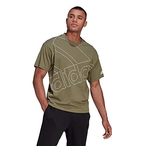 adidas U Favs Q1 T T-Shirt, Unisex, Erwachsene L verleg/weiß