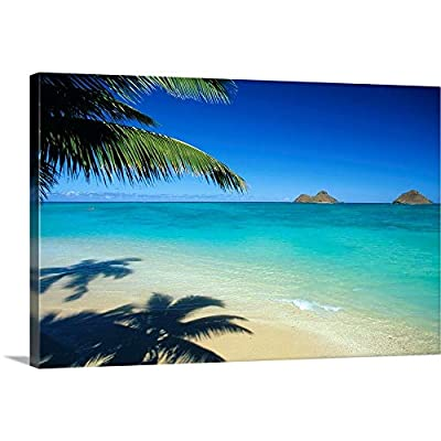 Hawaii, Oahu, Lanikai Beach with Calm Turquoise Water Canvas Wall Art Print from CANVAS ON DEMAND