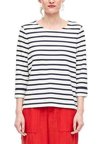 s.Oliver RED Label Damen Streifenshirt aus Interlock-Jersey Navy Stripes 44