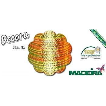 Quilt- und Overlockgarn aus glanzvoller Viskose Neu 2016 multicolor Farbe: 2093 Decora No.12 300m Stickgarn