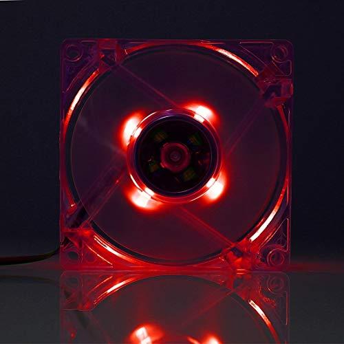 LYYCEU 8025 4 Pin DC 12V 0.18A Caja de computadora Refrigerador de enfriamiento Ventilador con luz LED, Color Aleatorio Entrega, Tamaño: 80x80x25mm (Color : Color4)