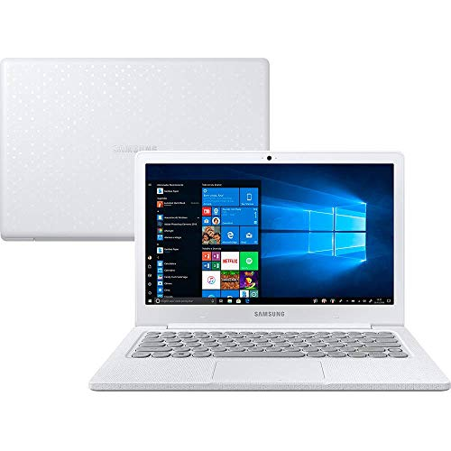 Notebook, Samsung, Flash F30 Intel Celeron, 4GB RAM, 128GB SSD, Full HD LED 13.3' , Windows 10, Branco Giz