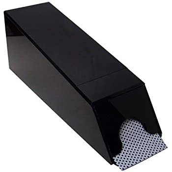 Brybelly Professional Black 8-Deck Covered Dealer Shoe - Includes 2 Cut Cards!
