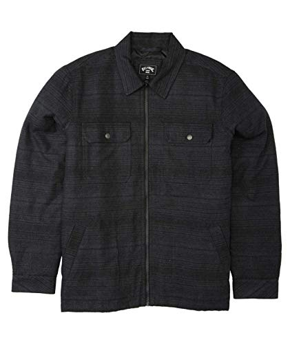 Billabong Men's Barlow Zip Jacket, Stealth, S