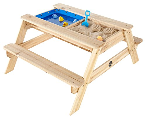Plum- Surfside, Mesa de Picnic Infantil con Piscina, Color Natural (25078)
