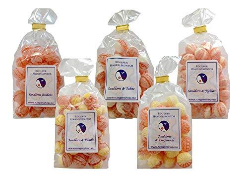 Sanddornbonbons - Sahnige Mischung - 5 verschiedene Tüten