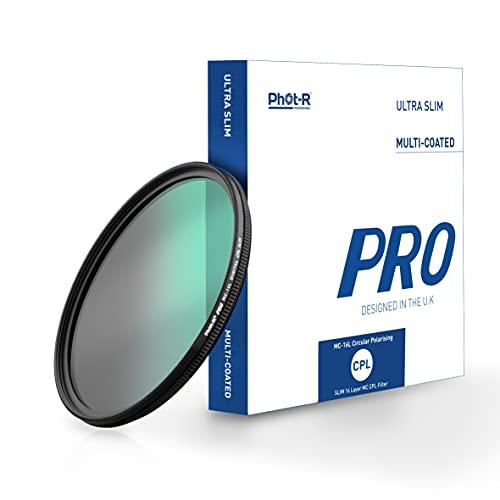 Phot-R 52 mm Pro Filtro Polarizzato Multirivestito 16 strato Ultra sottile circolare vite in polarizzata Antipolvere Antigraffio Idrorepellente filtro DSLR