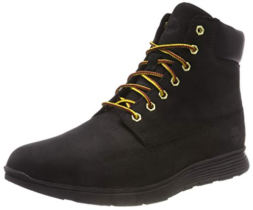 Timberland Men's Ankle Boots High-top Sneakers, Black Black Nubuck, 47.5