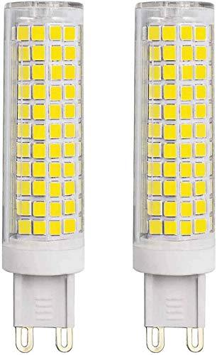 JFFFFWI Bombillas LED G9 Equivalentes a 90W 100W Halógenas 7W Blanco frío 6500k 1000 Lumen 220V-240V Bombilla Base de Dos Clavijas G9 con Ahorro de energía (Paquete de 2)
